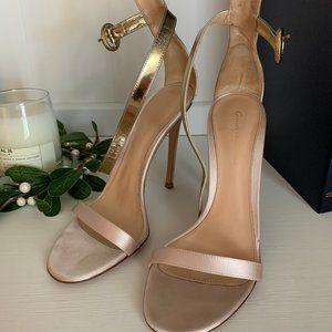 Gianvito Rossi Portofino Pink & Gold Sandal